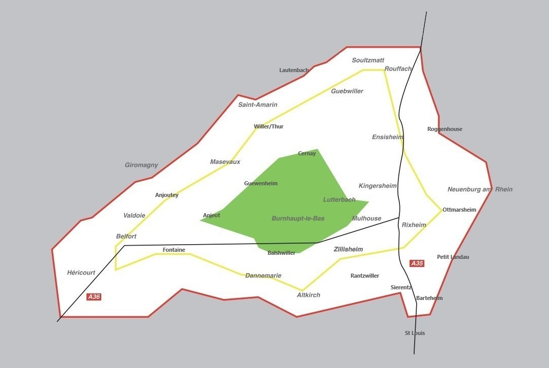Carte des zones des tarifs 2018